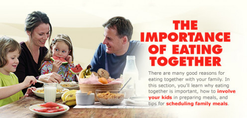 Eating together brings family closer