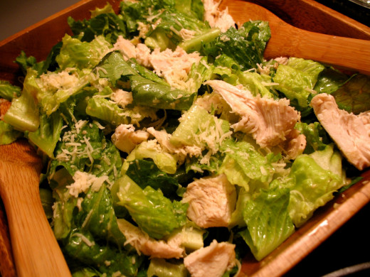 Simple Chicken Caesar Salad with Homemade Caesar Dressing