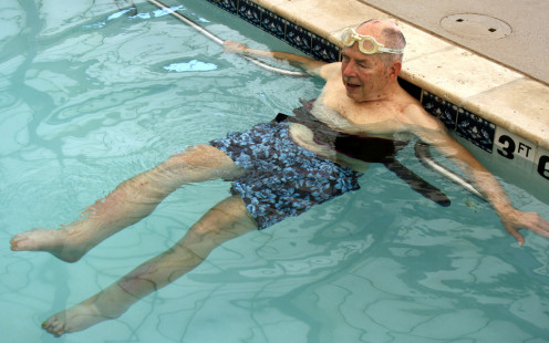Swimming is a healthful exercise for diabetics of all ages