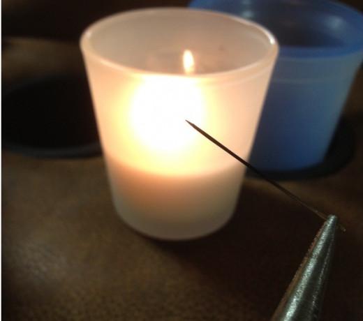 Fire to sterilize needle
