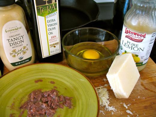 Homemade Caesar Dressing Ingredients