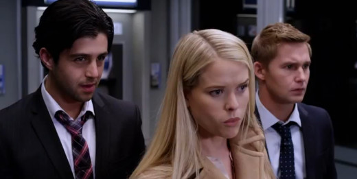Screen shot of Peck, Geraghty, and Eve in ATM