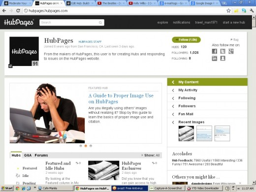 HubPages (Using Capture-a-Screenshot)