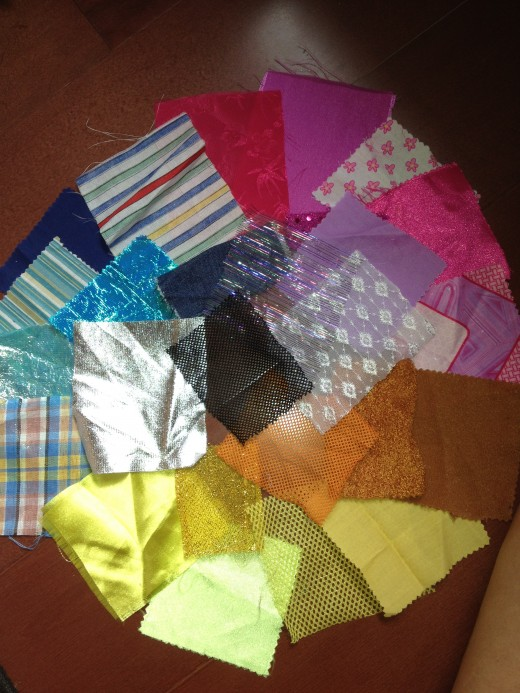 Use scraps of material to help children make the perfect room color combination choice.