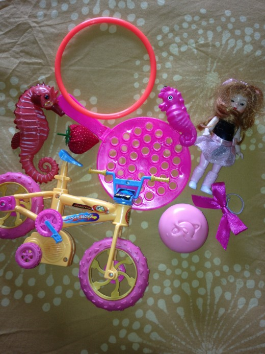 Use your little girls toys to help her make a color choice.  The perfect shade may be within the color palette of shades.