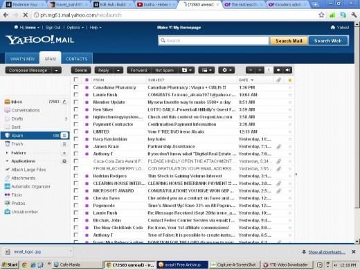 Spam mails -ugh!!! (Using Capture-a-Screenshot)