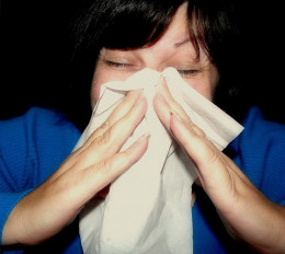 Sneezing is a common allergy symptom.