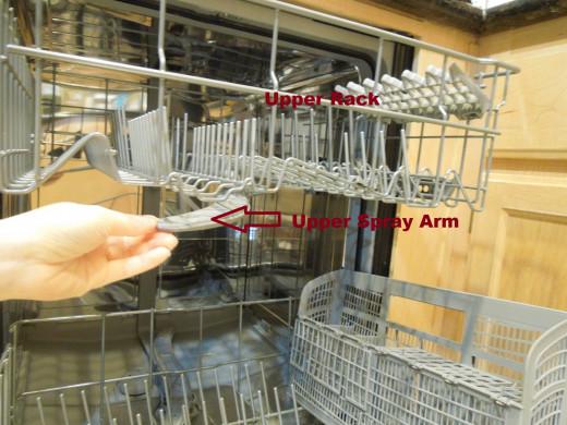 Upper Rack of A Dishwasher