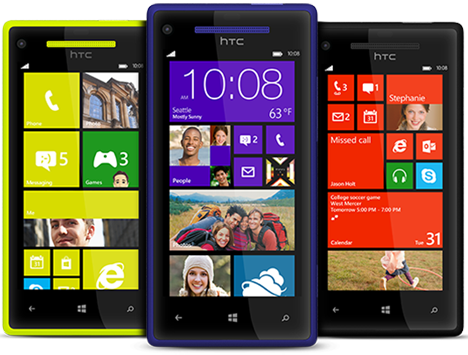 HTC Windows Phone 8X (yellow, blue, black)