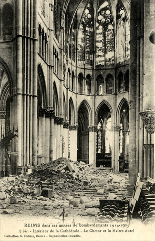 Reims church destroyed in World War I