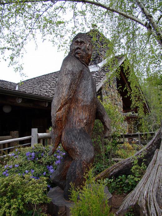 Artistic rendering of bigfoot.