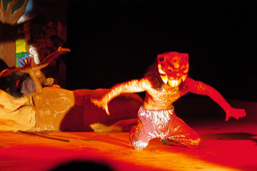 Bagh Bhairav, enacting deity on stage