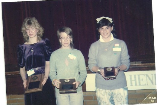 Henry County Spelling Bee (Photo by Barbara Anne Helberg, 1986)