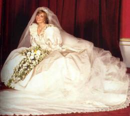 Lady Diana in her wedding dress.