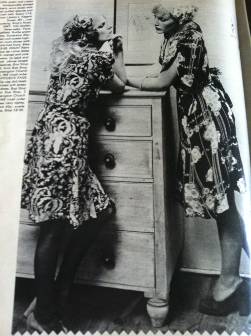 Flowery print dresses and a call back to the 40's was for the really stylish.