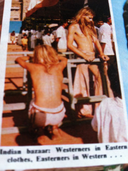 Off to Katmandu with George Harrison of the Beatles.  A Photo from a magazine of his followers