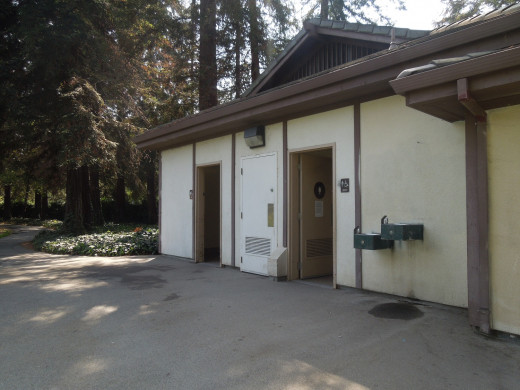 Public Restrooms Outside by the Back Entrance of Japanese Friendship Garden San Jose CA