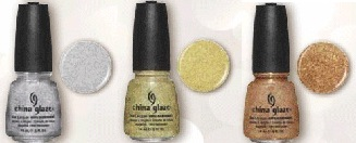 China Glaze Glistening Snow, Angel Wings, Champagne Kisses