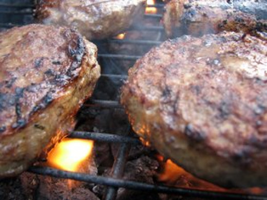 You can barbecue the burgers
