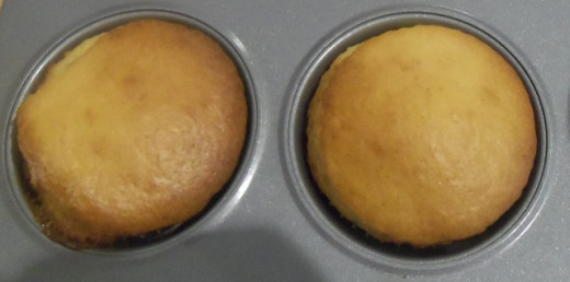 The cakes are ready when they turn a golden brown colour.