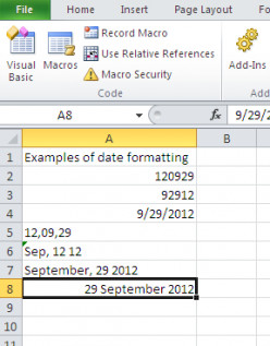 VBA: How to Change Date Format