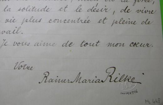 Rilke's handwriting
