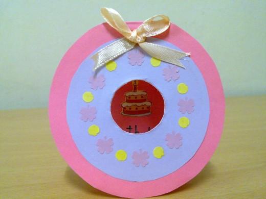 Doughnut Birthday Card for Little Girl