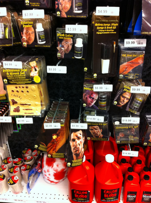 Full selection of zombie make-up