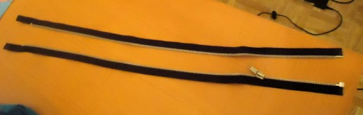 zipper separated