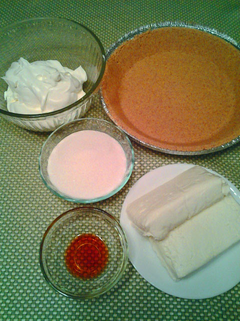 No Bake Cheesecake ingredients