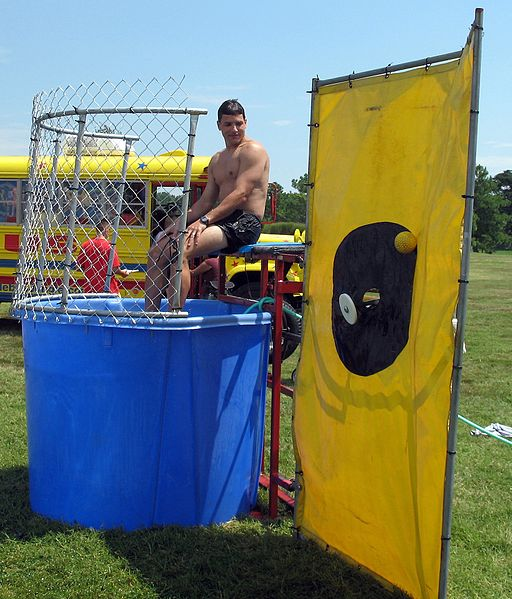 Benjamin Graves from Sasebo, Japan (Fun Day - Dunk tank) [CC-BY-2.0 (http://creativecommons.org/licenses/by/2.0)], via Wikimedia Commons