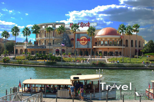 This particular Hard Rock Cafe in Orlando, Florida has a beautiful view and it's the largest one in the world.