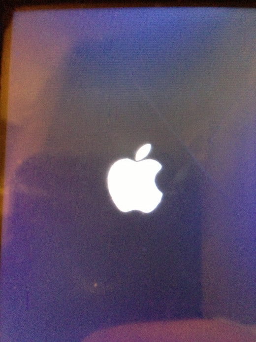 The Apple logo will remain on the screen for longer than normal when the device boots up after you've forced it to shut down.