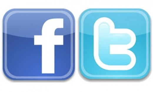 Facebook and Twitter, the two major social media.