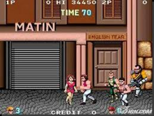 Double Dragon is an arcade video game that was also released on home gaming systems. It also has a sequel with the same theme.