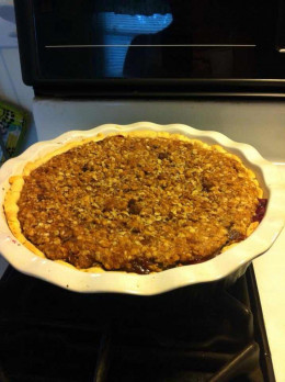 """If you use too large a pie dish, the 9"""" crust will just barely be big enough. Smaller dishes work best if you are concerned with presentation. Serves best warm with Vanilla Ice-Cream!"""
