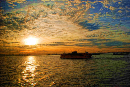 Staten Island Ferry at Sunset