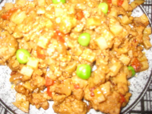 Sauteed Ground Pork