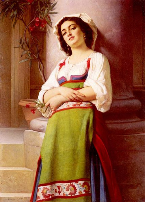 Italian woman, painting by Charles Landelle (1821-1908)