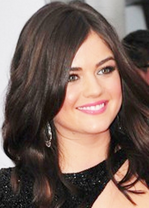 Lucy Hale in Makeup for Fair Skin, Brown Hair, and Green Eyes