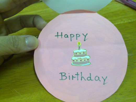 Write Birthday Wishes either with a marker pen or print them out