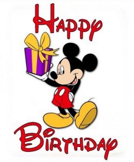a Mickey Mouse Birthday Cartoon Image