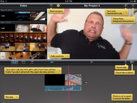 iMovie help captions