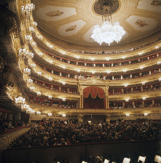 The Bolshoi Theater in Moscow