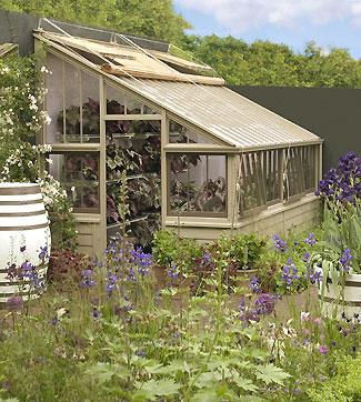 designer lean-to greenhouse