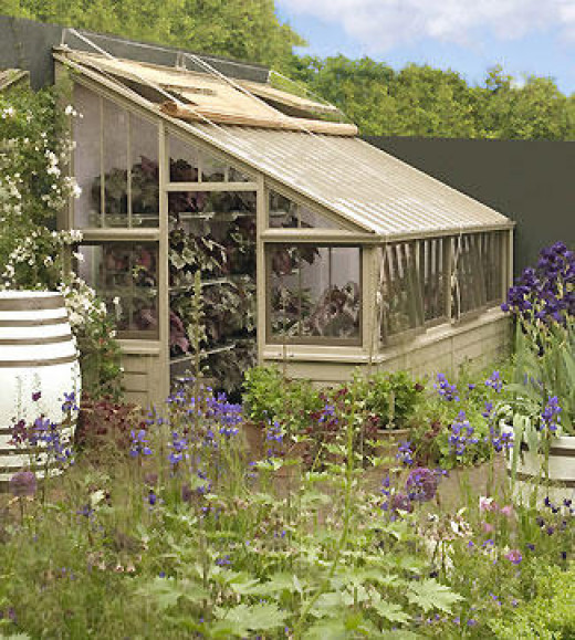 designer lean-to greenhouse