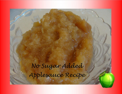 Diabetic friendly applesauce.