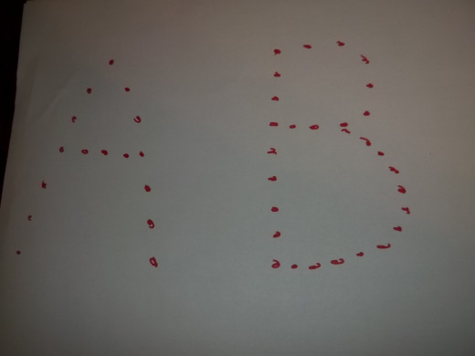 You can make dotted outlines of the alphabet letters for your toddler to trace.