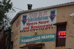 Meers Store and Restaurant in Meers Oklahoma offers longhorn burgers made from their own herd of cattle.  These lean burgers are absolutely delicious and a great way to enjoy a burger without added hormones or antibiotics.