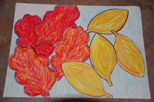 Fall leaf line and shape project